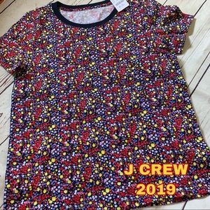 J Crew size S Small New NWT floral top 2019 yr